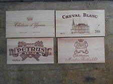 Estampes bois vin Petrus Cheval Blanc Yquem Mouton Rothschild 1ers Grands Crûs