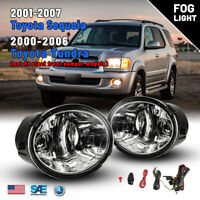 For 00-06 Toyota Tundra 01-07 Sequoia Fog Lights Driving Lamps Wring Kit+Switch