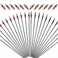 31.5'' Archery Carbon Arrows Hunting with Removable Tips Or 3 Blade Broadheads