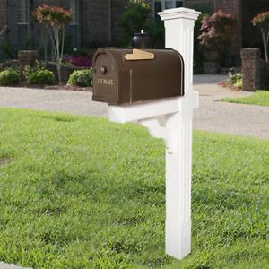 Postal Pro Mailbox Post Mount Hampton Bronze Gold Durable Large Non Rust US MAIL