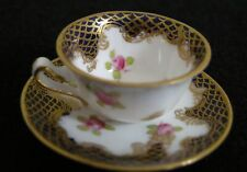 Vintage Crown Staffordshire Miniature Cup & Saucer, ca. 1906