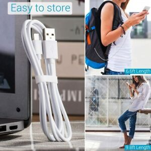 For Samsung Galaxy S8 S9 S8+ S9+ S10 3M Long USB TYPE C Charger Lead Cable White