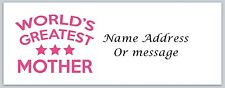 Personalized Return Address Labels Mom Mother Buy 3 get 1 free (a 22)