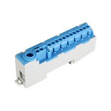 Pollmann steckbare Nullleiterklemme für Tragschienen / DIN-Schinen N14-S blau
