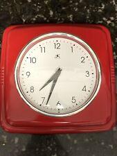 Infinity Round Retro 9.5 Inch Kitchen Red Vintage 50s Wall Clock
