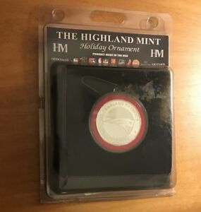 The Highland Mint New England Patriots Holiday Ornament New Unopened