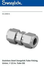 SWAGELOK SS-2400-6 Stainless Steel Tube Fitting,Union,1 1/2 in.Tube OD *NEW*