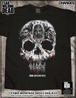 Fear The Walking Dead Sketchy Skull Zombies Walkers Adult Mens T Tee Shirt