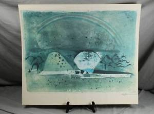 Serigraphy High-Quality Print - 2x Signed Johnny Friedlaender or Similar Height