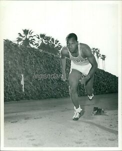 1968 Lennox Miller Olympic 100 Meter Medalist Original News Service Photo