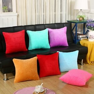 Small Circle Dimple Patterned Plush Cushion Covers  Scatter Pillow Sofa