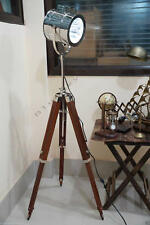 INDUSTRIAL STYLE VINTAGE MOVIE SPOT LIGHT FLOOR STANDING TRIPOD LAMP Collectible
