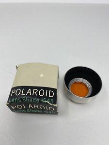 Rare Vintage Polaroid Lens Shade #545 with Polaroid Orange Filter #4