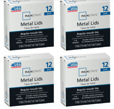 Mainstays Universal Metal Canning Lids Regular Mouth Size Jars 48 LIDS/ 4 BOXES