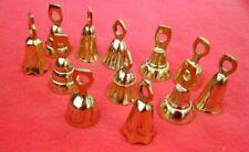"Lot of 12 Brass Bells 2"" Wedding Bells Chimes Goat Bells Diy New # 032"