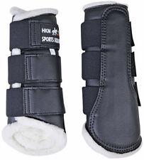 HKM Dressage/brushing Fleece Lined BOOTS - White Medium