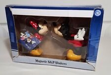 Disney Magnetic Salt and Pepper Shakers Mickey and Minnie Mouse Kissing NEW