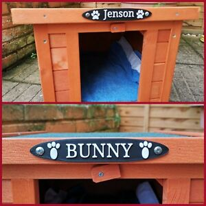 Personalisable Pet House/Crate/Shelter Name Sign Plaque / Cat Dog Rabbit