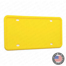Universal Silicone License Plate Frame Sport Car SUV Truck Van Decoration Yellow