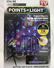 NEW Christmas Points Of Light LED Lightshow Projector w/ Remote 14 Colors 114