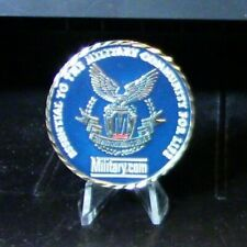 """Challenge Coin: """"Thanks for your service"""" Military.Com"""