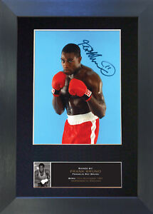 FRANK BRUNO Signed Mounted Reproduction Autograph Photo Prints A4 536
