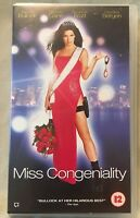 Miss Congeniality - Sandra Bullock  / Michael Caine - A Classic on VHS (PAL)