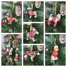 CHRISTMAS DOG DECORATIONS COLLIE, POODLE, LABRADOR, SHIH TZU, SCHNAUZER AND MORE