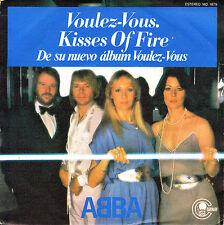 """7"""" ABBA voulez-vous (quiere Vd...) SPANISH 1979 kisses of fire (besos de) 45"""