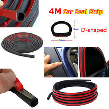 "4M/157"" Big D-Shape Car Door Rubber Weather Strip Weatherstrip Self Adhesive New"
