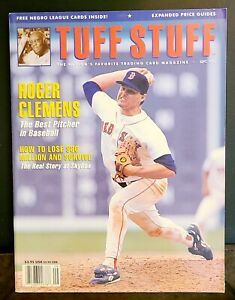 TUFF STUFF PRICE GUIDE MAGAZINE 1992 ROGER CLEMENS WITH PROMO SHEET