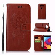 Owl Pattern Wallet Leather Flip Case Cover + Free Screen Protector For LG Phones