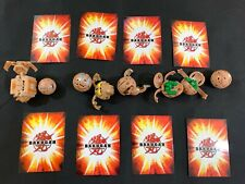 x8 Bakugan  00004000 Battle Brawlers + 8 Cards Lot Bulk Bundle Toy Collectable