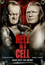 WWE Hell in a Cell 2015 PPV Poster, Undertaker, Brock Lesnar - Mint