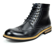 Bruno Marc Mens Lace Up Motorcycle Leather Chukka Boots Oxford Dress Ankle Boots