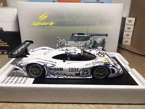 1:18 Spark Porsche 911 Gt1 1998 24h Lemans 2nd Place Wollek/Muller/Alzen
