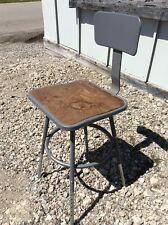Vintage InterRoyal Corp Metal Industrial Stool - Adjusts 18� To 25� - Very Good