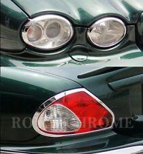 US STOCK COMBO Set ROYAL CHROME Front & Rear Light Trims for JAGUAR X-Type
