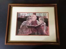 """""""The Fairy Tale"""" Walther Firle FINE ART, Framed & Matted Print Storytelling Read"""