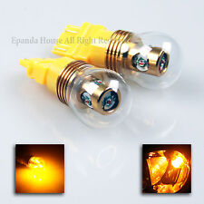 2X USA SMD 20W CREE CHIP BRIGHT AMBER 3157/4157 LED LIGHT BULBS TAIL/SIGNAL DIY