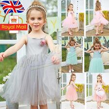 Baby Girl Sleeveless Kids Tulle Tutu Party Wedding Dress Princess Clothes Summer