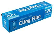 Catering Cling Film Food Wrap 120 Metre Long x 30cm Wide Self Dispenser Wrapping