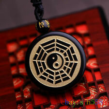 Chi Bagua Pendant fengshui necklace Chinese Natural obsidian pendant mascot Tai