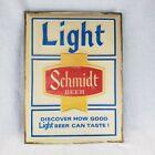 Vintage Schmidt Beer Light Up Sign Light Beer Advertising Embosograph Display