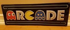 NEW METAL PACMAN ARCADE DECOR*  game pinball machine man cave shop atari cinema