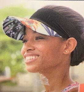 Scunci Sporty Stretch Visor Women Girls One Size Ultra Comfort Super Stretch cap