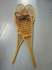 VINTAGE QUEBEC CANADA  SNOWSHOES 12-42 rawhide BASTIEN BROTHERS INC