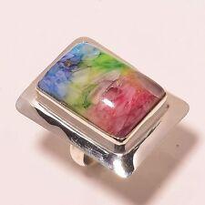 Botswana Agate Druzy Gemstone Pretty .925 Silver Ring Jewellery 8
