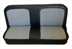 Chevy GMC Pickup Vinyl & Houndstooth Seat Upholstery for Front Bench 1967-1972