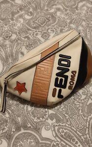 FENDI, Fendi mania roma leather belt bag, White/blue, Luisaviaroma - Capsule Col